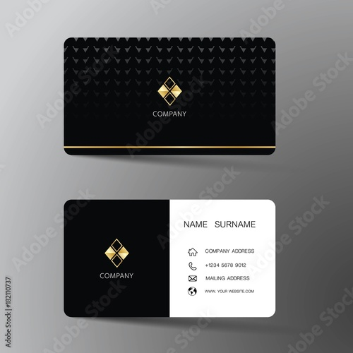 Modern business card template design with inspiration from the modern business card template design with inspiration from the abstract contact card for company reheart Gallery