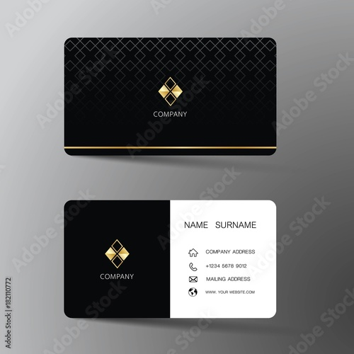 Modern Business Card Template Design With Inspiration From The - Modern business card template