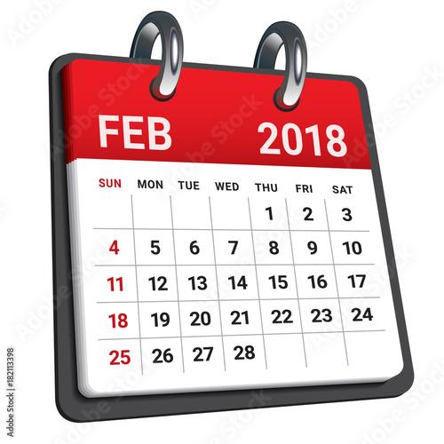February Calendar Illustration : Quot february calendar vector illustration stock image
