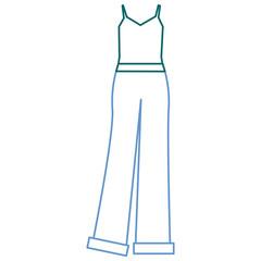 elegant feminine dress icon vector illustration design