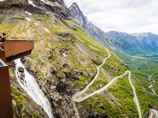Trollstigen viewpoint in Norway