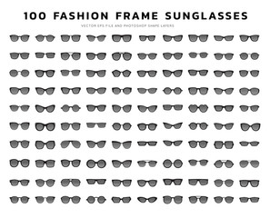Sunglasses vector icon set