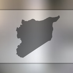 Syria map. Blurred background with silhouette of Syria map. Vector silhouette of Syria map