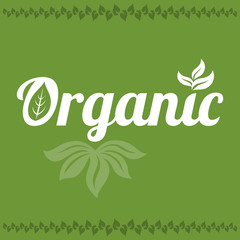 Vector typography design for organic food