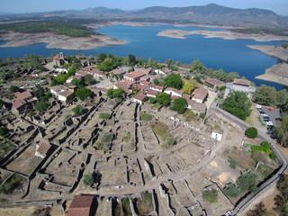 Granadilla ( Caceres, Extremadura) desde el aire. Fotografia aerea con drone