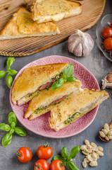 Pesto cheese sandwich