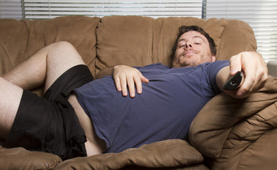 fat lazy man