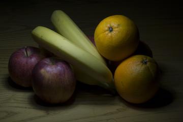 Mele, banane arance