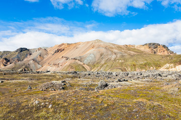 plateau in Landmannalaugar area in Iceland