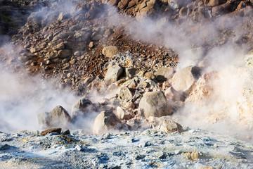 acidic mudpot in Krysuvik area, Iceland