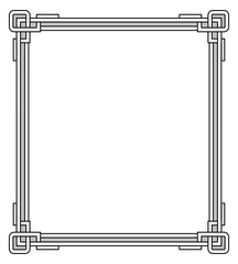 Frame with Decor Elements Vector Illustration