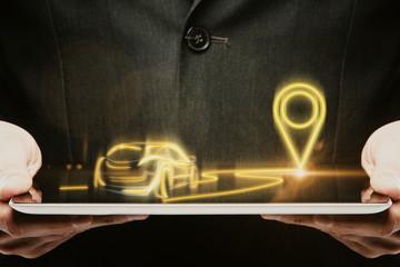 GPS and navigation concept