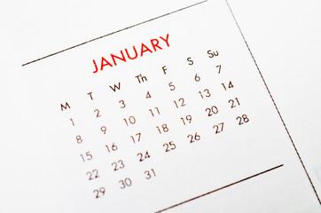 january calendar page.