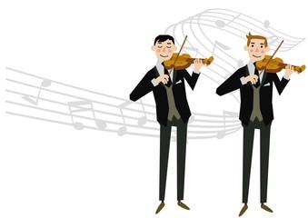 バイオリン。バイオリニスト。楽器。音楽シーン。オーケストラ。