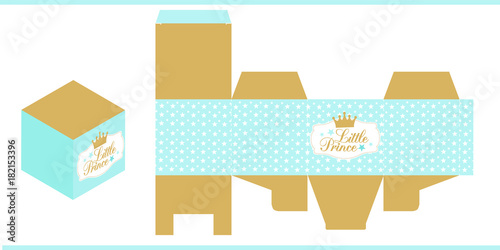Little Prince Party Printable Template Baby Shower Birthday Paper Box Print