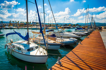 Pleasure boats, Cyprus, Paphos district
