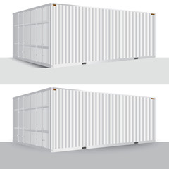 3d perspective white cargo container shipping freight isolated texture pattern background