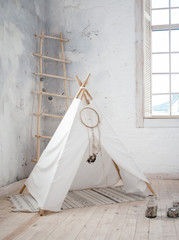 wigwam in the children's room