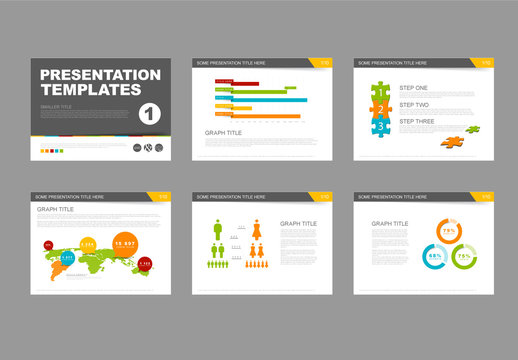 Set of 6 Presentation Infographic Layouts
