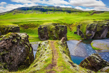 The canyon in Iceland - Fyadrarglyufur