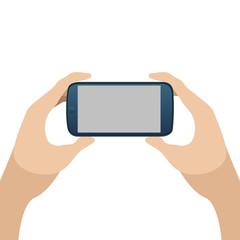 Cellphone on hands
