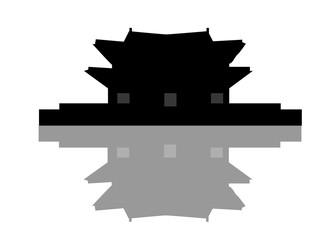Gyeongbokgung silhouette