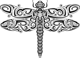 Dragonfly Tribal Tattoo Artistic