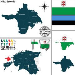 Map of Hiiu, Estonia