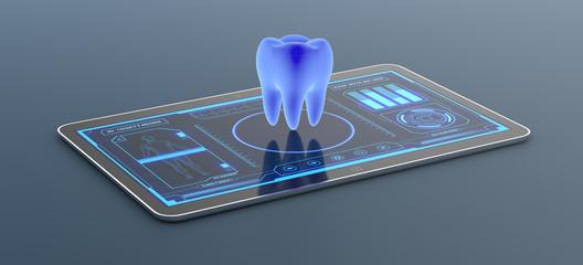 futuristic medical app