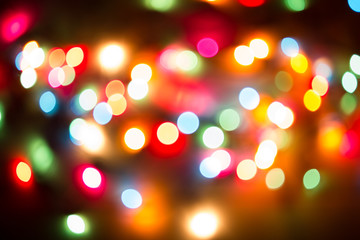 blurred of christmas light.