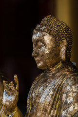 golden Buddha  in Thai temple