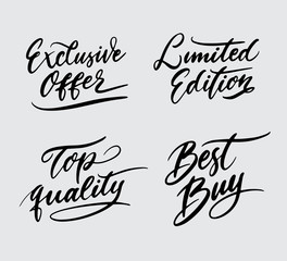 top quality and limited edition handwriting typography. Good use for logotype, symbol, cover label, product, brand, poster title or any graphic design you want. Easy to use or change color