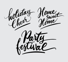 party festival holiday handwriting typography. Good use for logotype, symbol, cover label, product, brand, poster title or any graphic design you want. Easy to use or change color