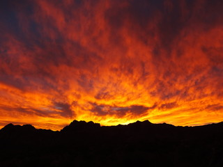 Red Rock Canyon dramatic sunset