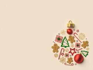 Christmas ball arrangement background