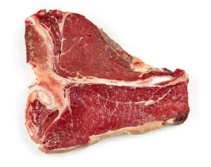 raw T bone steak