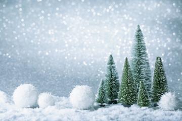 Christmas decoration on a sparkle background