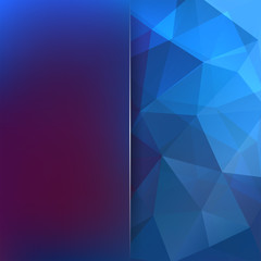 Abstract polygonal vector background. Geometric vector illustration. Creative design template. Abstract vector background for use in design. Blue, purple colors.