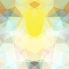 Abstract background consisting of yellow, white triangles. Geometric design for business presentations or web template banner flyer. Vector illustration