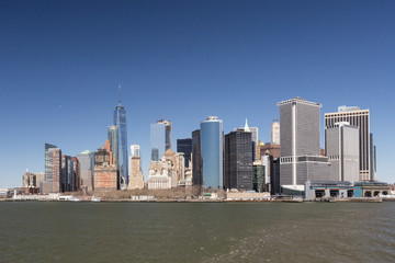 Manhattan and blue sky