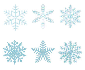 blue snowflakes part I