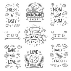 Doodle bakery Logo and Ornament