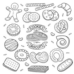 Doodle cookies and Biscuits