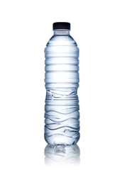 water bottle isolated on white background. clipping path