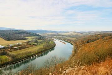Susquehanna River on a bright sunny day in November.  Pennsylvania