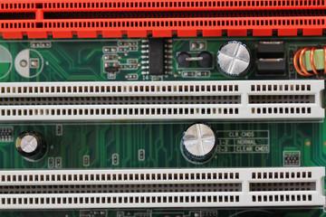 computer motherboard of details.