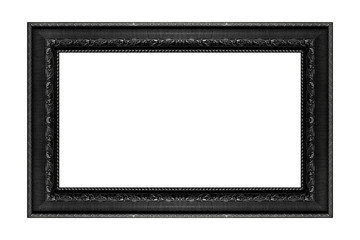 antique black frame isolated on white background