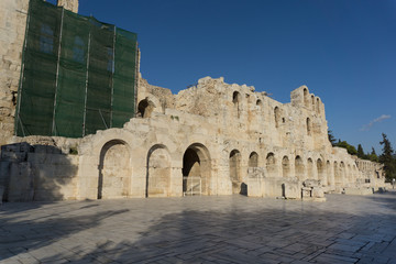 The Theater of Herod Atticus,in Athens, the capital of Greece