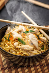 Asian noodle with chicken