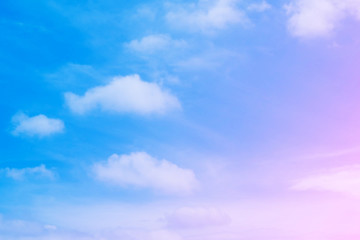 Beautiful Blue Sky with Pink Clouds Nature Background Great for Any Use.